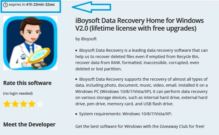 Unlimited Giveaway - iBoysoft Data Recovery Home for Windows V2 0