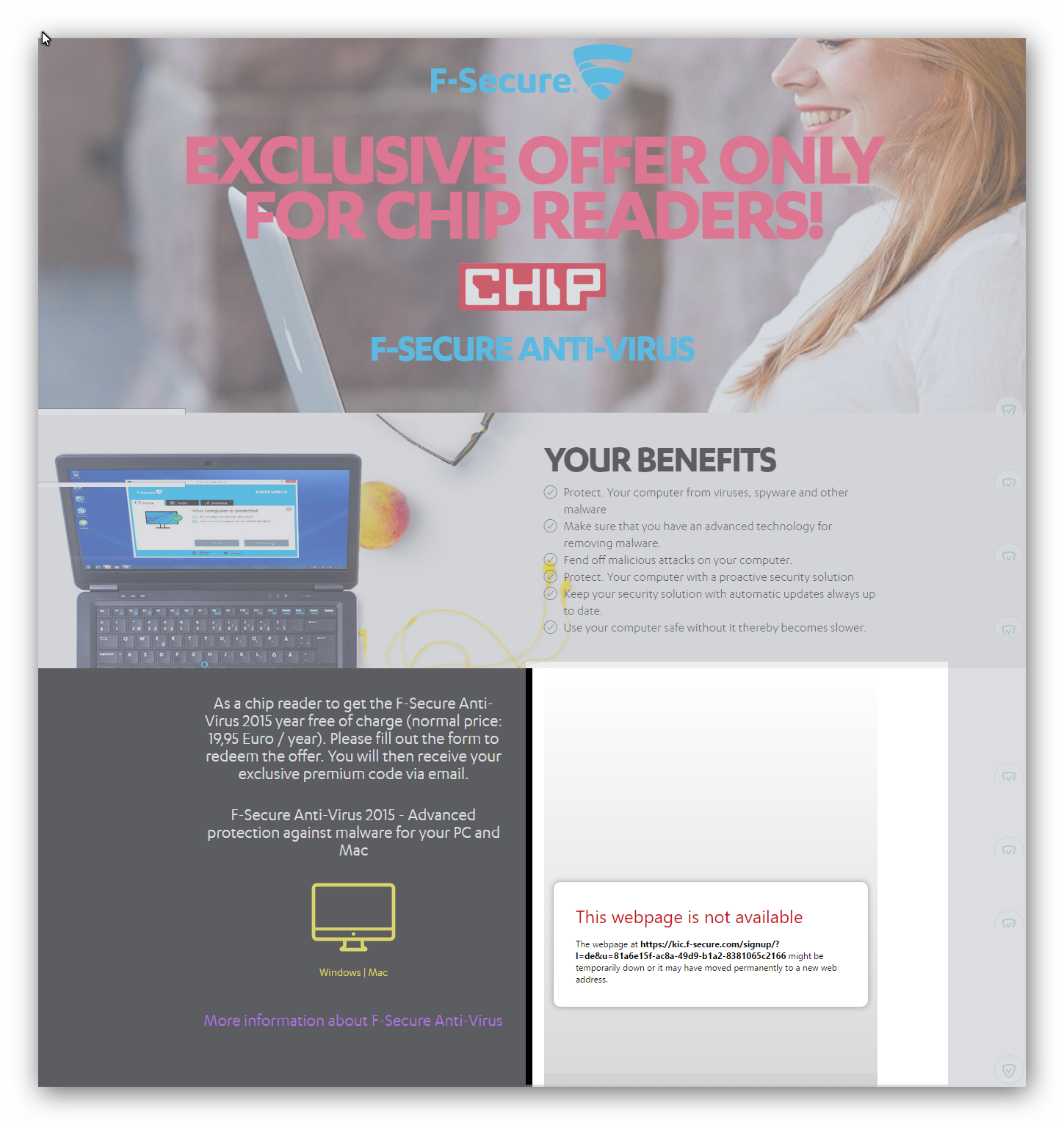 Chip De Weihnachtskalender.Expired Chip De F Secure Anti Virus 2016 1 Year Pc And Mac 20 000