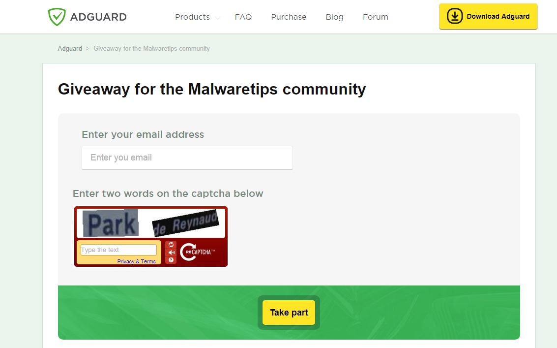 Expired - ADGUARD 3 Days Unlimited Giveaway   MalwareTips