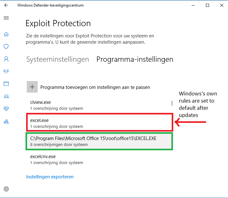 Playing with Windows Defender Exploit protection for Chrome and Edge