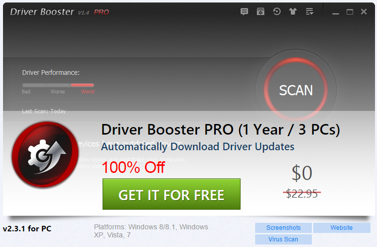 driver booster 3 pc download