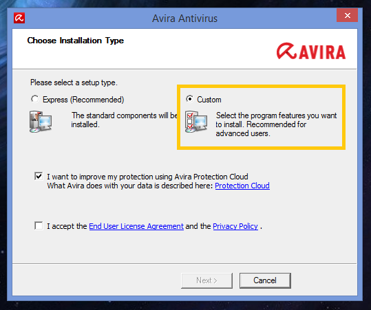 Users are Forced to use Avira Launcher - Avira 2017 without