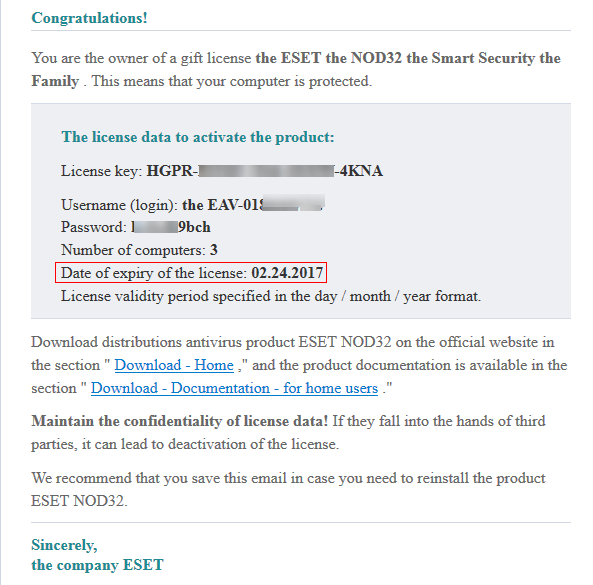 Expired - Free License ESET NOD32 Smart Security for 2 months
