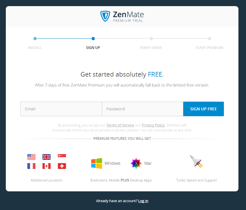 Q&A - Can you skip the ZenMate Sign Up and Trial