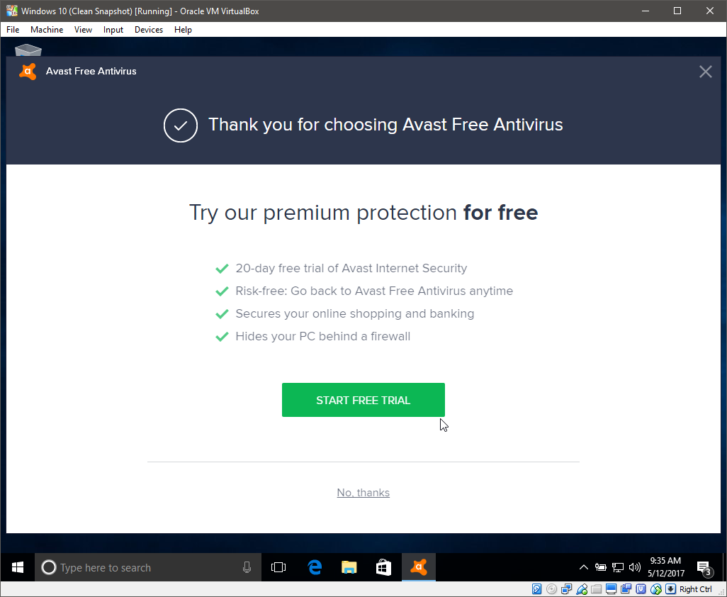 Free Download from Avast com - How much crap gets installed