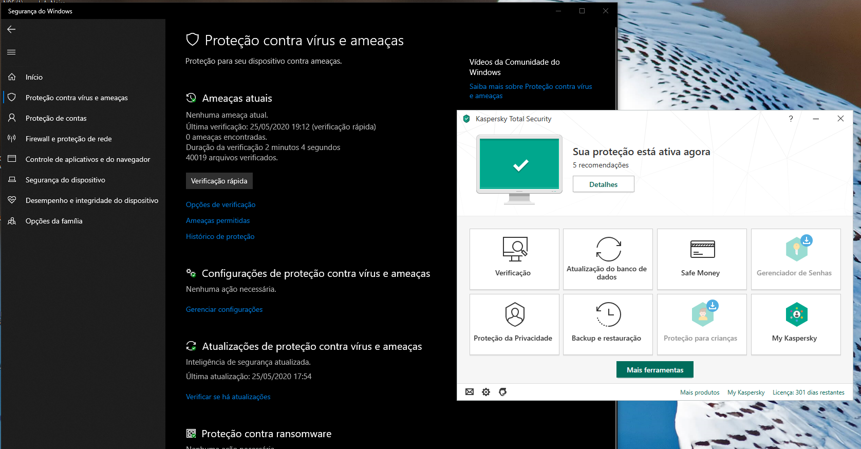 Windows defender active with Kaspersky.png