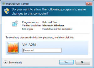 UAC Credential Prompt