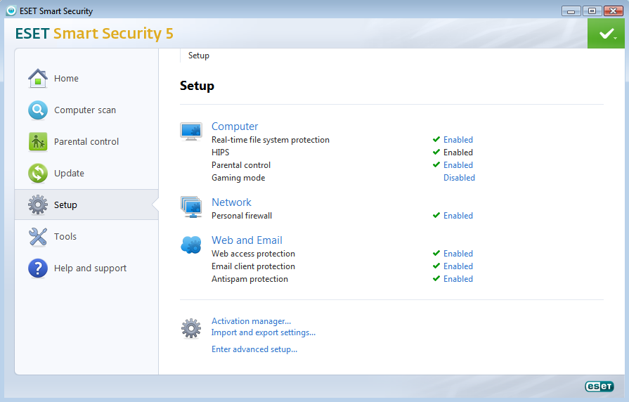 ESET 5 Preview [Screenshots and Info]