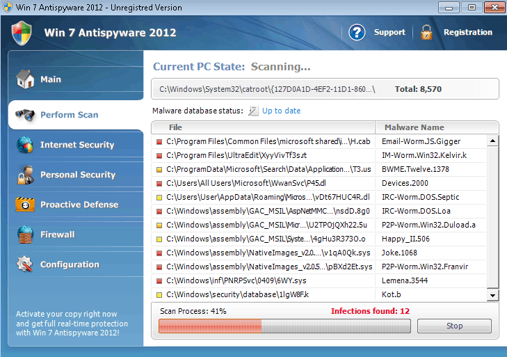 Guide to remove win 7 antispyware 2012