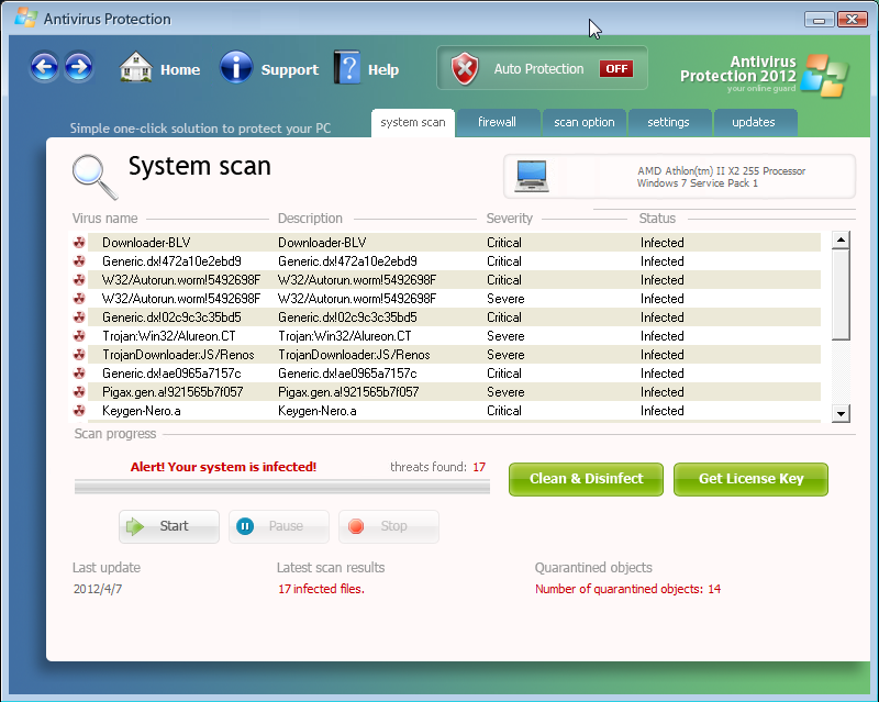[Image: Antivirus Protection 2012 Scan]