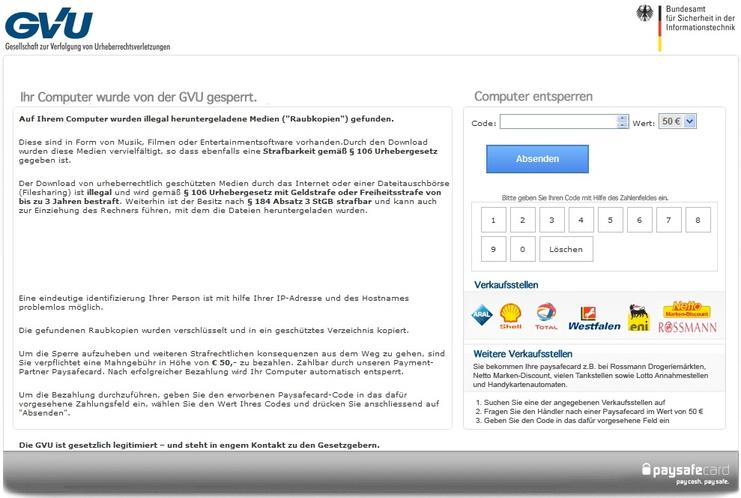 Remove GVU Gesellschaft zur Verfolgung von Urheberrethtsverletzungen