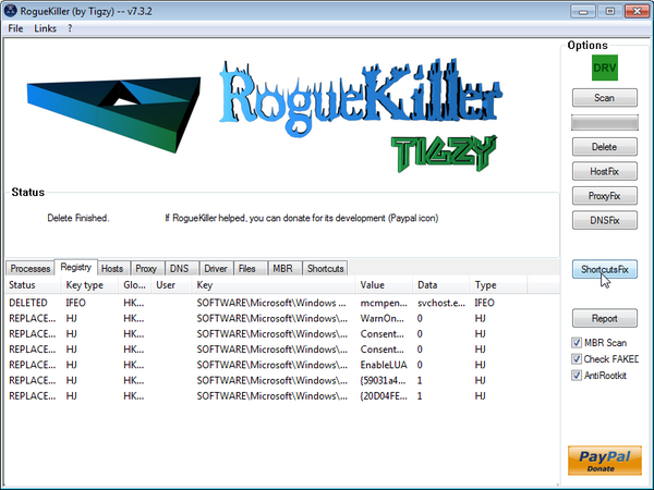 Remove residual damage from Win 8 Security System virus virus