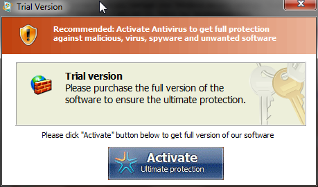 [Image: Windows Pro Security Scanner Fake trial]
