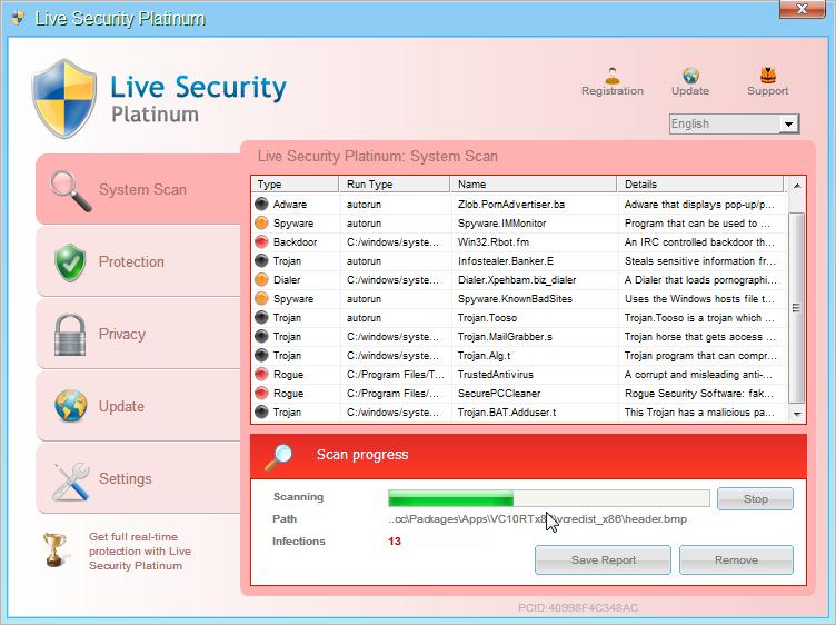 [Image: Live Security Platinum virus]
