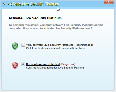[Image: Live Security Platinum Activation request]