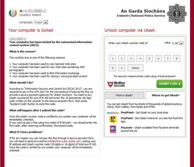 Remove An Garda Síochána virus (Uninstall Guide)