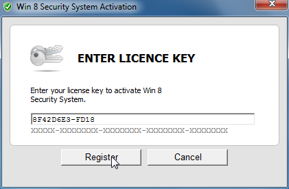 Win 8 Security System Key