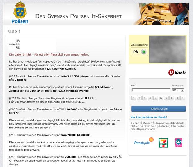Den Svenska Polisen IT-Sakerhet – Virus Removal Guide