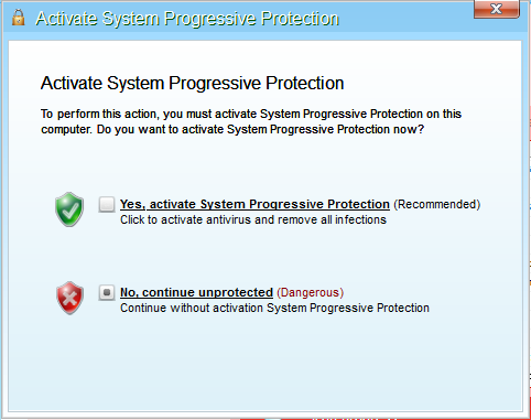 System Progressive Protection Activation Request