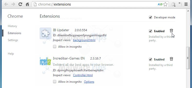 [Image: Incredibar Chrome extensions]