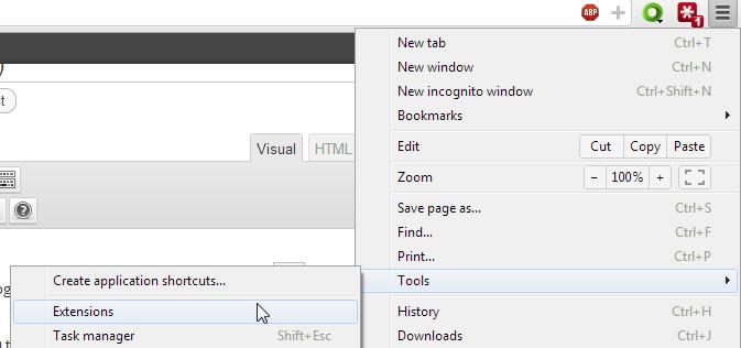Chrome Extension button