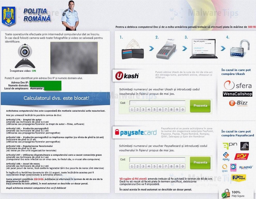 Remove Politia Romana virus (Uninstall Guide)