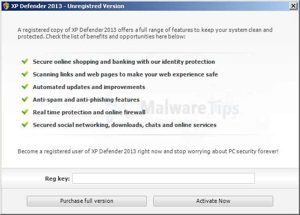 XP Defender 2013 License Key