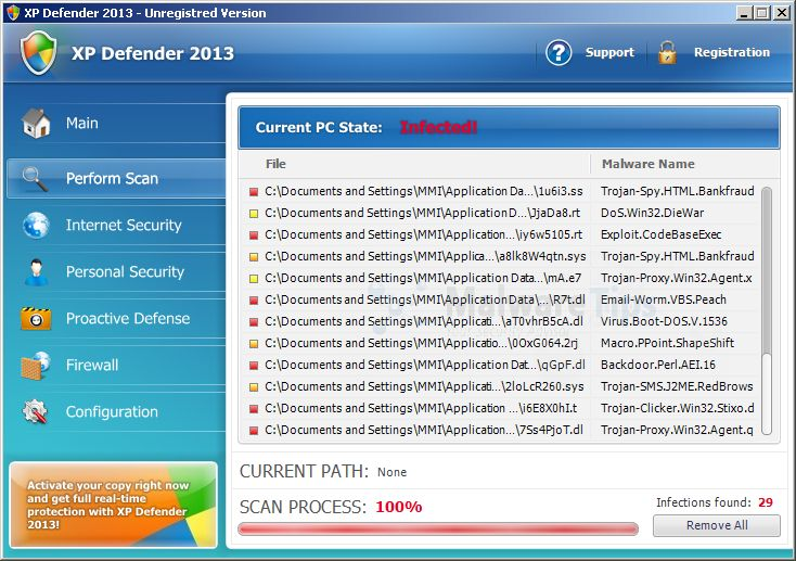 XP Defender 2013 virus