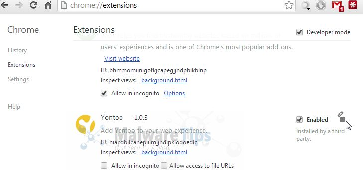 [Image: Yontoo Extension in Google Chrome]