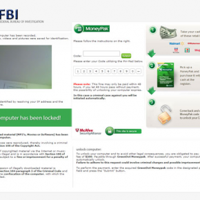 FBI MoneyPak Ransom