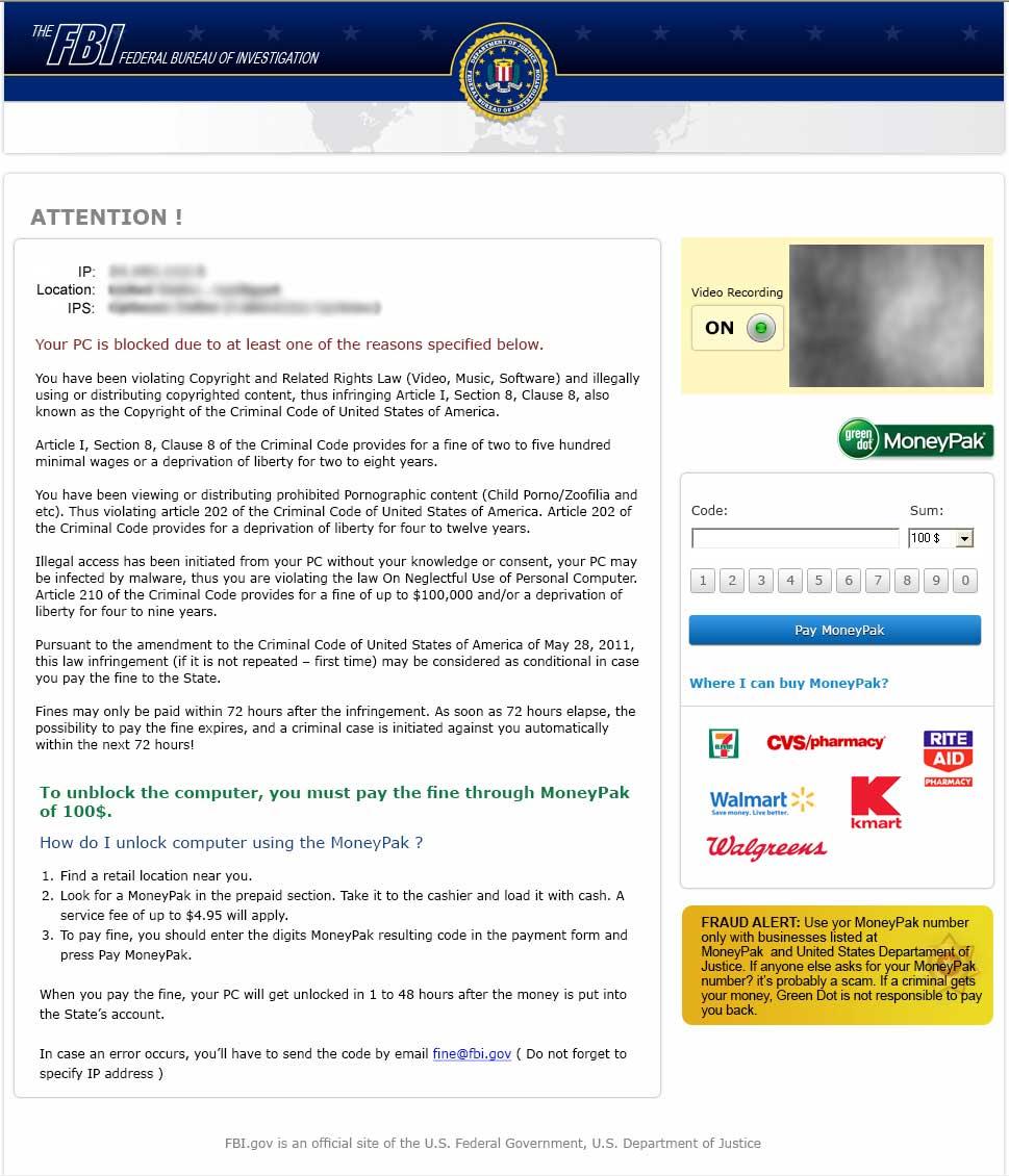 Remove Fbi Virus Moneypak Scam