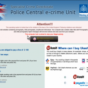 Police Central e-crime Unit Malware