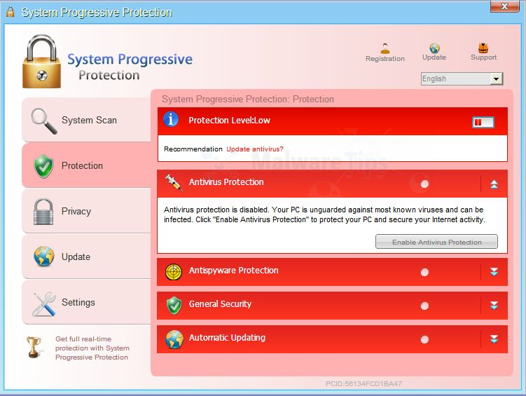 System Progressive Protection malware