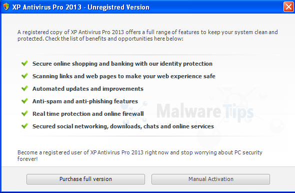 XP Antivirus Pro 2013 Activation code