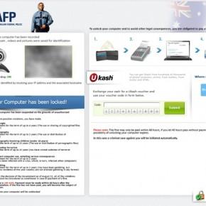 Australian Federal Police Ukash Ransom