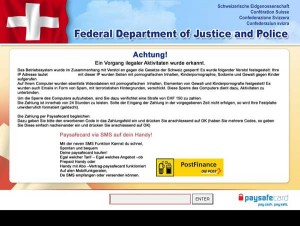 Federal Department of Justice and Police Ukash virus