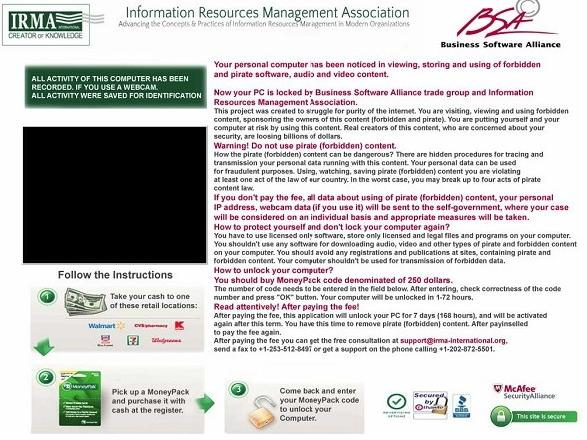 Information Resources Management Association (IRMA) MoneyPak virus
