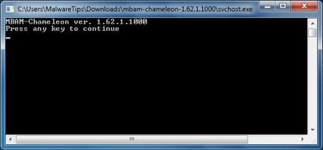 Malwarebytes Chameleon press key