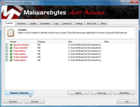 Malwarebytes Chameleon malicious process