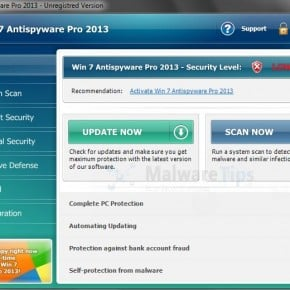 Win 7 Antispyware Pro 2013 Rogue Antivirus