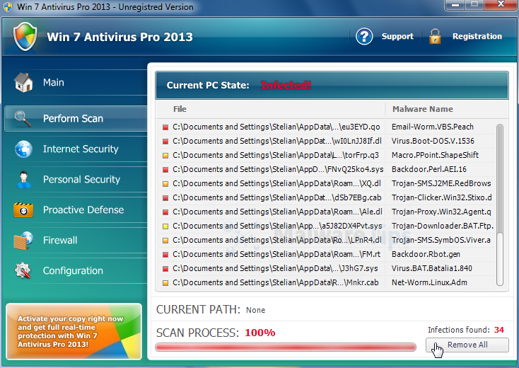 Win 7 Antivirus Pro 2013 malware
