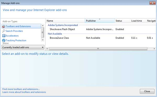 [Image: Browse To Save Internet Explorer Add-on]