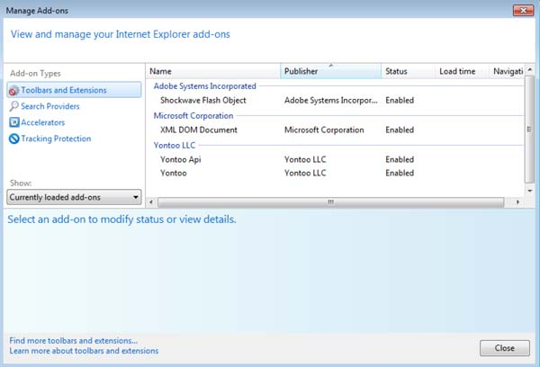[Image: Drop Down Deals Add-on in Internet Explorer]