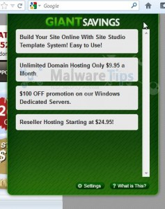 "Remove ""Ads by Giant Savings"" adware (Uninstall Guide)"