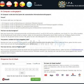 [Image: International Police Association PaySafeCard virus]