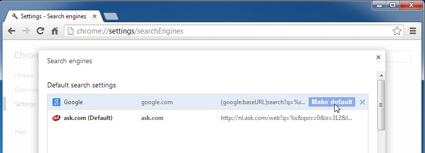 [Image: Ask Search engine in Chrome]
