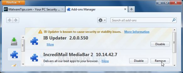 MyStart by Incredimail Firefox extension