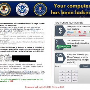 [Image: Your computer has been locked virus]