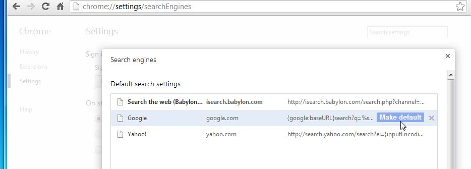 How can I uninstall the Babylon search from Chrome ...