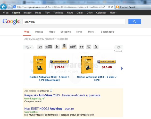 [Image: Buzzdock Ads in Google Search]
